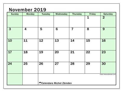 november  calendar ss michel zbinden en