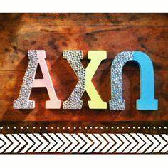 a chi o on pinterest sorority paddles greek paddles With axo wooden letters
