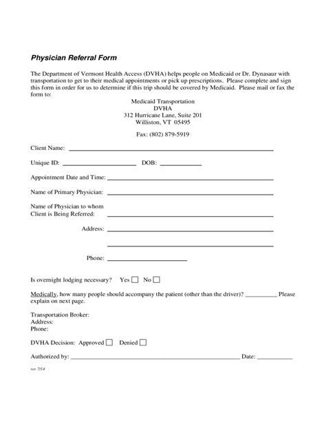 Medical Referral Form – medical form templates