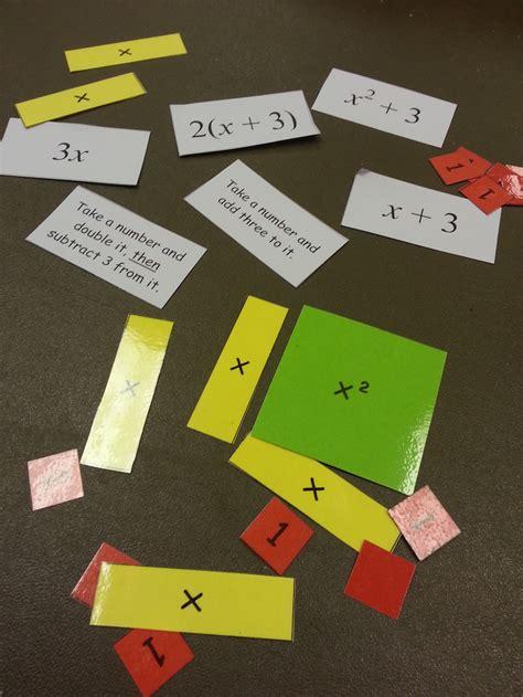Make Algebra Tiles by Lotw Expressions Using Algebra Tiles