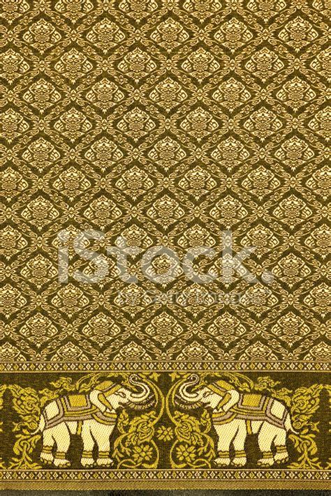 thai silk elephant motif stock  freeimagescom