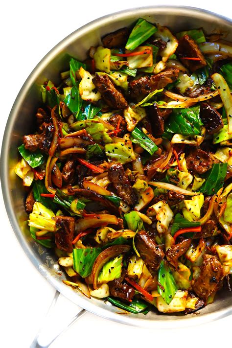 sesame beef  cabbage stir fry gimme  oven