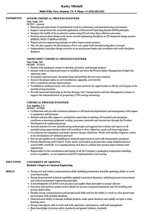 Process Engineer Resume by Process Engineer Resume Sle Www Nmdnconference