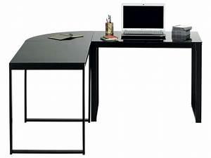 Etagere D Angle Noir : bureau d 39 angle blacky coloris noir vente de bureau conforama ~ Teatrodelosmanantiales.com Idées de Décoration