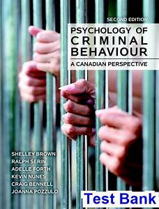 Psychology Of Criminal Behaviour A Canadian Perspective