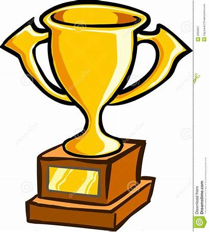 Cup Clipart Gold Trophy Award Cartoon Prize
