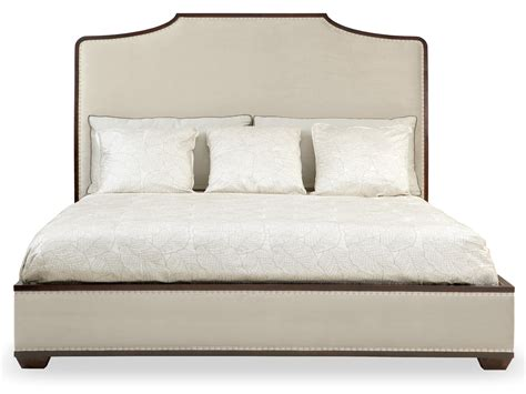 king bed wood frame upholstered bed bernhardt