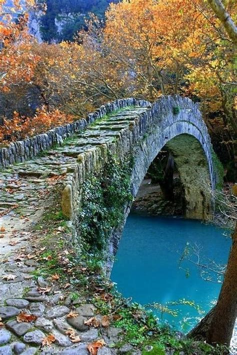 ancient stone bridge epirus greece  pictures