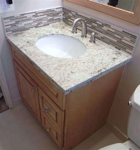 How To Install Vanity,Granite Top,Stone Glass Backsplash