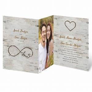 love for infinity zfold invitation invitations by dawn With wedding invitations with photograph