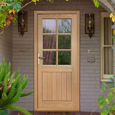 External Doors by Cottage 6 Pane Oak External Door And Frame Set With