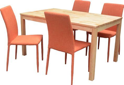 table et chaise restaurant ensemble table et 4 chaises contemporain naturel orange nyro ensemble table et chaises cuisine