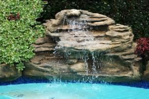 Swimming Pool Rock Waterfalls