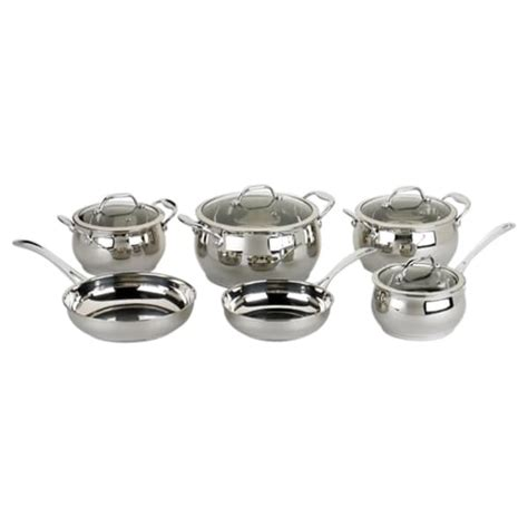 david burke  piece stainless steel cookware set  shipping today overstockcom