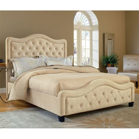 Trieste Fabric Upholstered Bed In Buckwheat  Humble Abode