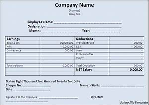 free editable salary slip template example for monthly With editable payslip template