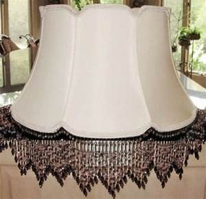 v notch beaded fringe silk victorian lamp shade lamp With white victorian floor lamp