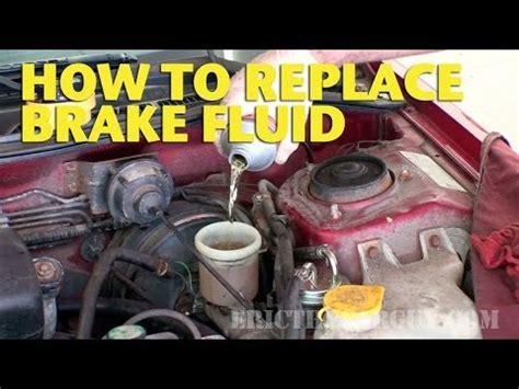 replace brake fluid   ericthecarguy