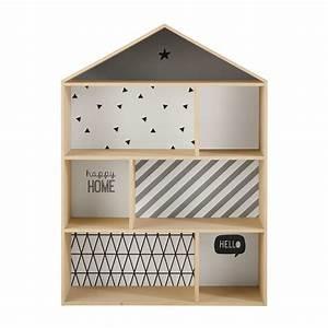 Meuble Bibliothèque Enfant : biblioth que maison enfant en bois l 102 cm graphikids maisons du monde ~ Preciouscoupons.com Idées de Décoration