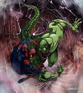 Spider-man Vs. Lizard by emmshin on DeviantArt