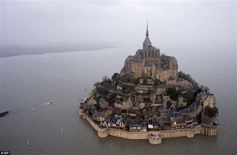 supertide in mont michel sparked by solar eclipse daily mail