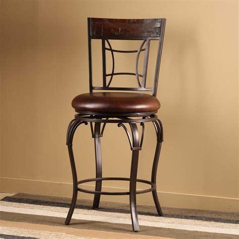 Hocker Drehbar by Granada Swivel Bar Stool W Upholstered Seat By Hillsdale