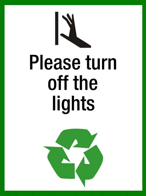 turn off the lights please turn off the lights sign sk signs labels