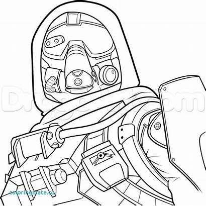 Destiny Hunter Drawing Draw Pages Drawings Character