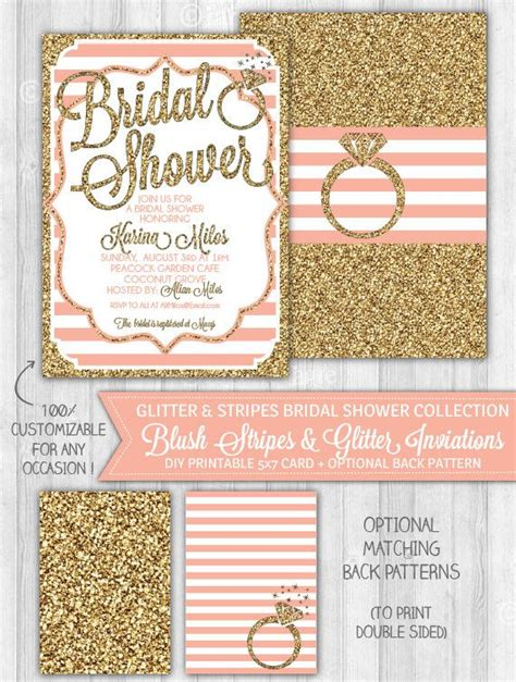 Glitter Bridal Shower Invitations 25 best ideas about glitter bridal showers on