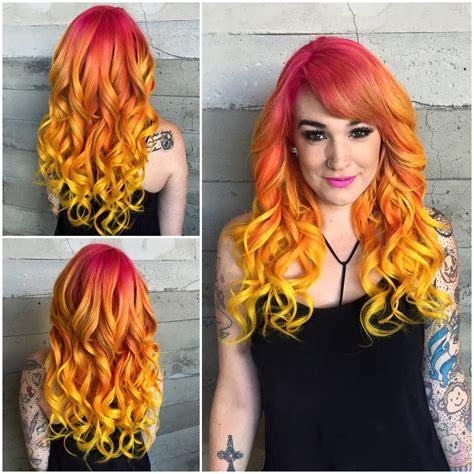 Sunset Hair Color Hair Colors Ideas