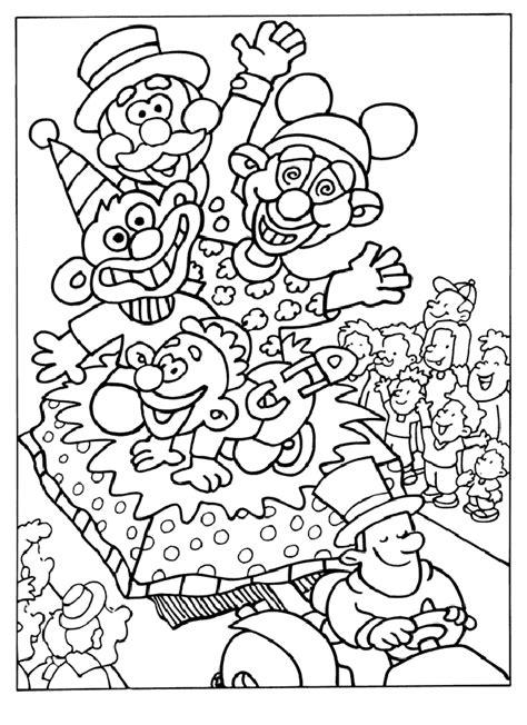 Carnaval Kleurplaat Printen by Carnaval Gratis Kleurplaten