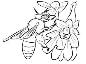 Realistic Bee Coloring Pages