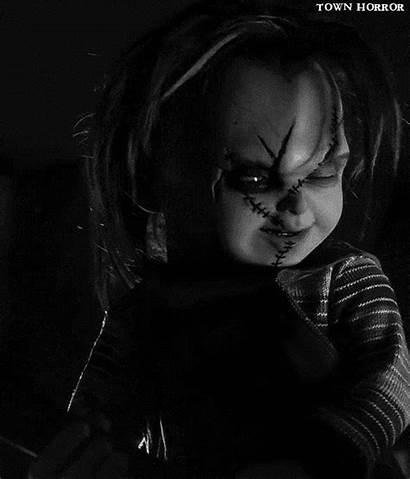 Gifs Chucky Horror Curse Animated Scary Giphy
