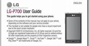 Lg Optimus L7 Manual Download Optimus L7 P700 User Guide