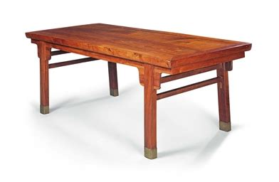 31675 gently used furniture admirable a large huanghuali recessed leg table 20th century