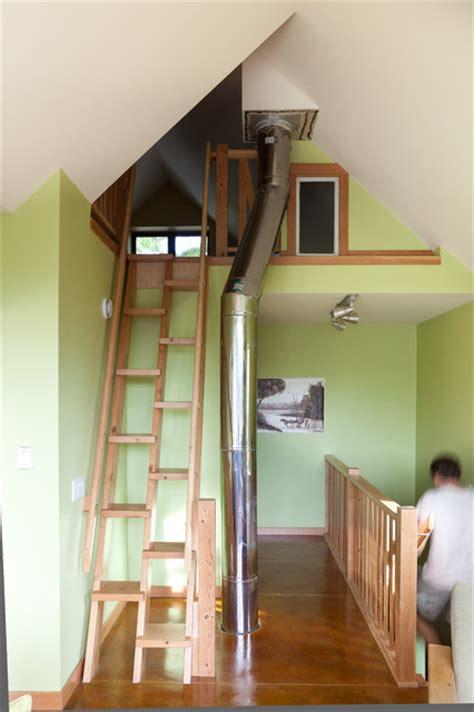 loft contemporary staircase edmonton