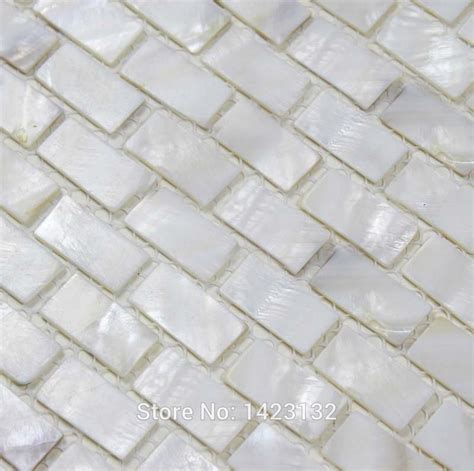 Mother Of Pearl Tile Pure White Shell Subway Tile Sheets