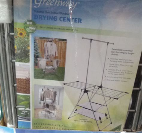 costco clothes rack greenway stainless steel indoor outdoor drying center with