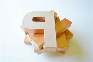 craft letters paper mache penny letters With paper mache craft letters