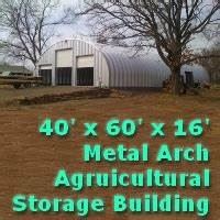 4039 x 6039 x 1639 steel storage metal arch pole barn building With 40 x 60 x 16 metal building
