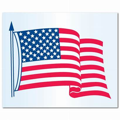 Flag American Stickers Patriotic Sticker Cling Decals