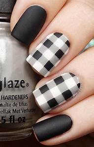 Stylish black white nail art designs for creative juice