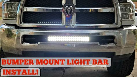 bumper mount led light bar install for 03 17 ram 2500