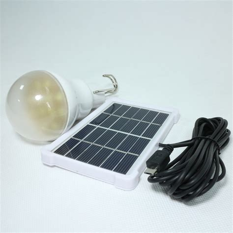 2x 15w 150lm Portable Solar Energy Panel Lighting System