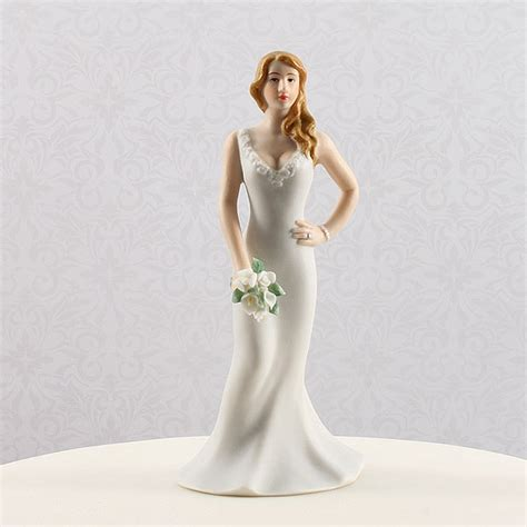 curvy wedding bride figurine cake topper