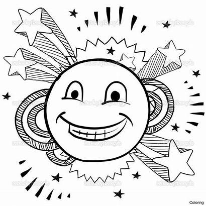 Coloring Emoji Face Pages Smiley Printable Smile