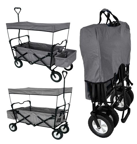 wagon with canopy folding wagon with canopy garden utility travel cart