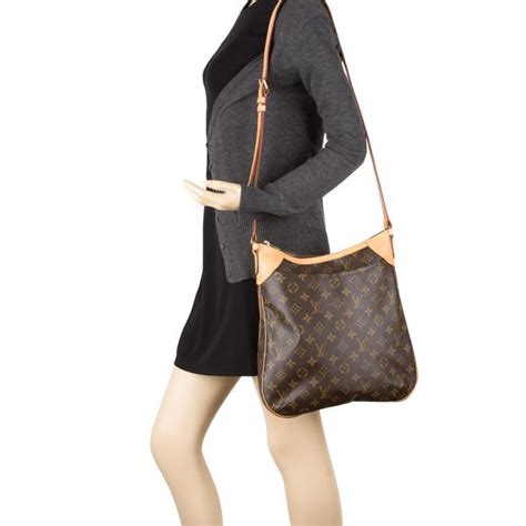 louis vuitton monogram odeon mm bag pre owned  luxedh