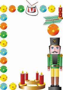 Christmas Photo Collage Templates Christmas Nutcracker Border Free Printable Papercraft
