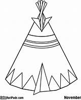 Teepee Tipi Coloring Pages Kokopelli Pee Tee Tent Printable Template Drawing Preschool Native American Indian Clipart Tipis Getdrawings Getcolorings Templates sketch template